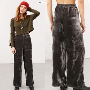 Staring At Stars Willa Velvet Wide Leg Pants